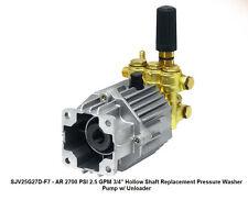 Pressure Washer Pump Ar Sjv25g27d F7 25 Gpm 2700 Psi 34 Shaft