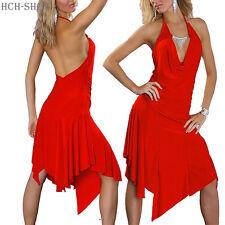 Neckholder Zipfelkleid knielang Sommerkleid rot Cocktailkleid mit Kette 36