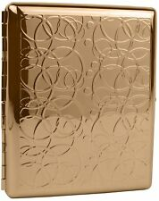 Rose Gold Rings (Full Pack 100s) Metal-Plated Cigarette Case & Stash Box