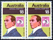 1976 Australian Stamps - National Stamp Week - Double MNH