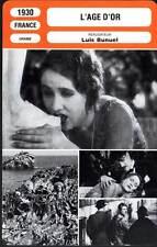 L'AGE D'OR - Luis Bunuel (Fiche Cinéma) 1930