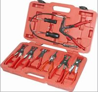 9Pc Pipe Removal Tools Swivel Jaw Hose Clamp Pliers Kit Set For Ratchet P373029