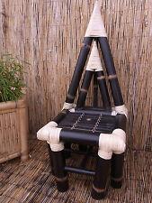 Bambusstuhl Bambusmöbel Designerstuhl Stuhl Luxusstuhl Bambus Pyrastuhl black
