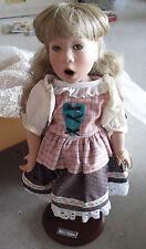 """RARE Good Kruger Porcelain Miller's Daughter Blonde Girl Doll with Box 15"""""""