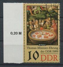 DDR ABART 3270 DD MÜNTZER 1989 DOPPELDRUCK!! ERROR DOUBLE PRINT!!! a5397
