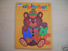 "Vintage Whitman ""ALPHABET"" Coloring Book 1976 NEW"