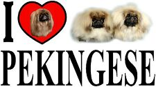 I LOVE PEKINGESE Dog Car Sticker By Starprint - Ft. the Pekingese