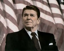 "RONALD WILSON REAGAN ACTOR & U.S. PRESIDENT 8x10"" HAND COLOR TINTED PHOTOGRAPH"