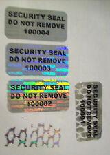 100 SVAG SSDNR# Security Seals Tamper Evident Warranty Void Labels Sticker Seals