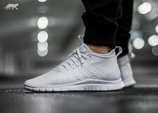 NIKE FREE HYPERVENOM 2 Trainers Running Gym Fashion UK 13 (EU 48.5) Triple White
