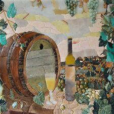 Mosaic Kitchen Backsplash- Winery Scene Mosaic Food And Drink Mosaic Tile