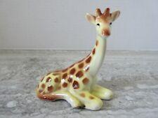 "Old Vintage Porcelain Giraffe Figurine Made in Japan 3 1/2"" tall."