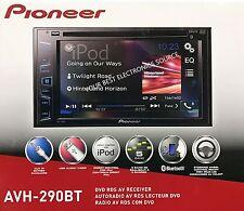 "New Pioneer Avh-290Bt 2-Din Bluetooth Dvd/Cd/Am/Fm Car Stereo 6.2"" Display"