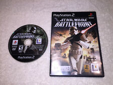 Star Wars: Battlefront (PlayStation 2, 2004) PS2 Black Label Game in Case Exc!