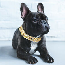 Bulldog Dog Collar Chain for Small Medium Pet Collar Necklace Jewelry