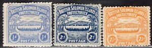 SOLOMON ISLANDS 1907 STAMP Sc. # 1 AND 3/4 MH