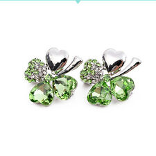 Fashion Women's Four-leaf Clover Shaped Brooch Artificial Diamond Jewellery