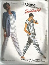 Vogue Designer Sewing Pattern 1904, Tamotsu, Jacket, Top and Pants, Size 8 - 10