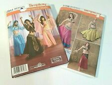 Belly Dance Costume Misses Simplicity Pattern 2941 2158 Size HH 6 8 10 12 Craft