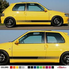 Decal Sticker Side Stripe Kit For PEUGEOT 106 Rallye GTI Spoiler Carbon Racing