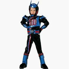 Disney Power Rangers SPD Shadow Costume NEW Size 7-8 Medium W Gloves Boot covers