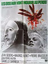 Affiche de cinéma Les oiseaux vont mourir au Pérou 1968