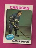 1975-76 OPC  # 396 CANUCKS HAROLD SNEPSTS ROOKIE GOOD CARD  (INV# A5827)