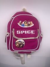 VINTAGE 9 INCH SPICE GIRLS MINI BACKPACK WITH BUTTON PIN