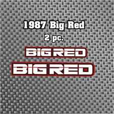1987 87' ATC 250ES Big Red 2pc vintage trike Front + Rear Fend Decals stickers