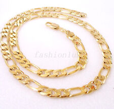 "Men New 18K Yellow Gold Plated Heavy Long Classic Chain Length 19.5"" 50cm Xmas"