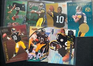 Lot of 7 Kordell Stewart cards 1995 Flair, Select, Playoff RC, Ultra, Refractor