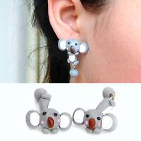 1 coppia orecchini 3D Koala orecchino lobo pendente accessorio bigiotteria donna