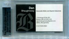 SIGNED BUSINESS CARD, DAN SHAUGHNESSY, SPORTS WRITER 35 YEARS CELTS AND BRUINS