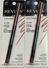 (2) Revlon Colorstay Lip Liner, 660 Mauve