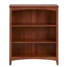 """Mission Craftsman Shaker 3 Shelf 36"""" Solid Wood Bookcase"""