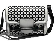 NEW, ALEXANDER MCQUEEN 'HEROINE' WHITE/BLACK CROSSBODY BAG, $2250