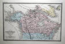 Canada GROENLANDIA ALASKA originale mano col Antico Malte Brun MAPPA VINTAGE C 1850