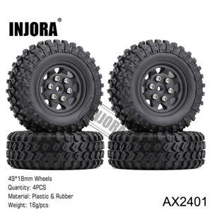 1.0 inch Beadlock Micro Crawler Wheel Rims Tires for 1/24 RC Axial SCX24 90081