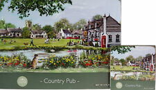 Set Of 4 Country Pub Scene Dinner Place Mats And Coasters
