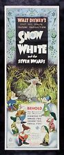 SNOW WHITE AND THE 7 SEVEN DWARFS * CineMasterpieces MOVIE POSTER DISNEY 1937