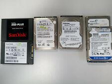Diverse Marken 2,5 Zoll SATA PC Festplatte 250 320 500 GB 1 TB  SSD 120 getestet