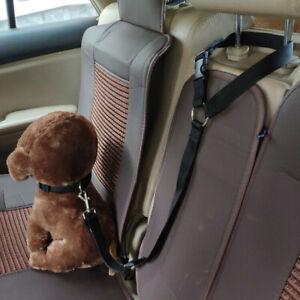 2x Dog Car Safety Seat Belt Restraint Harness Leash Travel Clip for Pet Cat