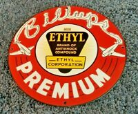 VINTAGE BILLUPS GASOLINE PORCELAIN PREMIUM ETHYL SERVICE STATION PUMP SIGN