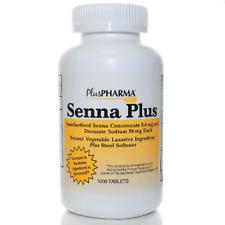 Senna Plus Stool Softener/Laxative Natural Vegetable Tab 1000ct