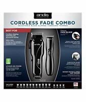 Andis 75020 Cordless Fade Combo 100-240V/50-60H w/FREE Straight Edge Metal Razor