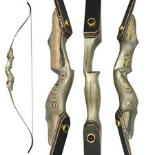 60'' Archery Recurve Bow Wooden Riser Takedown 25-60lbs Hunting Shooting Target