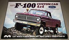Moebius 1970 Ford F-100 Custom Cab 4x4 Pickup 1/25 plastic model kit new 1230