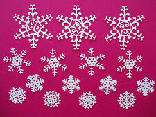 "15 Tattered Lace Die Cut Filigree ""Snowflakes"" Embellishments"
