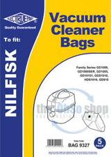 5 x NILFISK  Vacuum Cleaner Dust Bags To Fit - Family Series, GD910, GD911