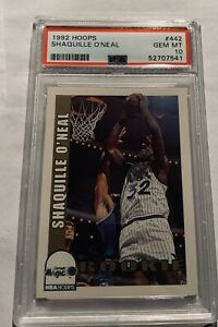 1992-93 NBA Hoops #442 Shaquille O'Neal Magic RC Rookie HOF PSA 10 GEM MINT